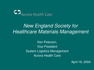 New England Society for Healthcare Materials Management