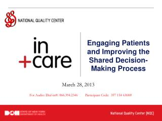 Engaging Patients and Improving the Shared Decision-Making Process