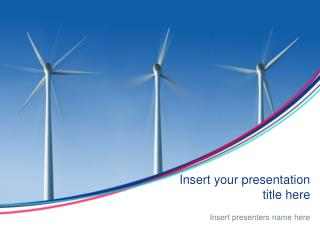 Environmental Wind Turbines Powerpoint Template