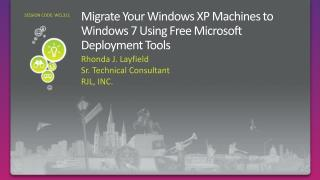 Migrate Your Windows XP Machines to Windows 7 Using Free Microsoft Deployment Tools