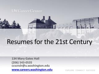 Resumes for the 21st Century