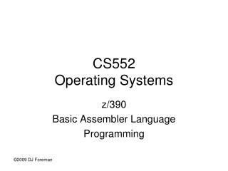 CS552 Operating Systems