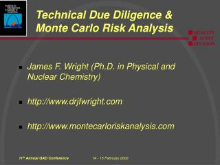 Technical Due Diligence & Monte Carlo Risk Analysis