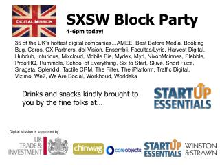 SXSW Block Party 4-6pm today!