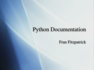 Python Documentation