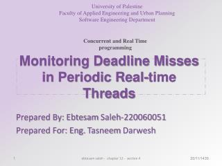 Monitoring Deadline Misses in Periodic Real-time Threads