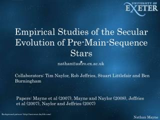 Empirical Studies of the Secular Evolution of Pre-Main-Sequence Stars