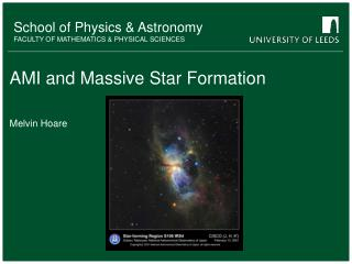 AMI and Massive Star Formation