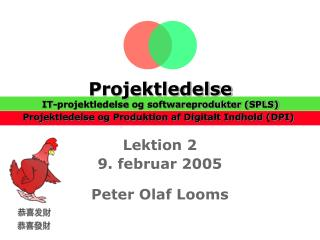 Lektion 2 9. februar 2005 Peter Olaf Looms