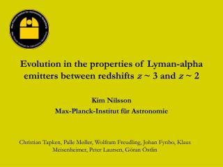 Evolution in the properties of Lyman-alpha emitters between redshifts  z  ~ 3 and  z  ~ 2