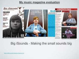 My music magazine evaluation