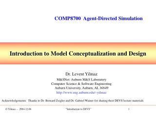 Introduction to Model Conceptualization and Design