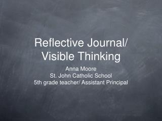 Reflective Journal/ Visible Thinking