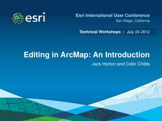 Editing in ArcMap: An Introduction