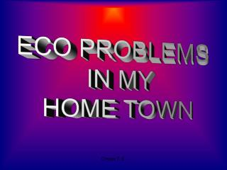 ECO PROBLEMS  IN MY  HOME TOWN