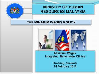 THE MINIMUM WAGES POLICY