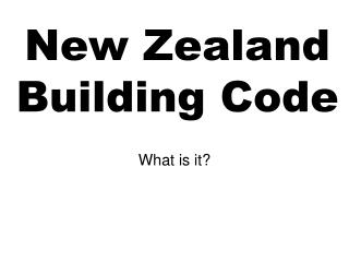 New Zealand Building Code