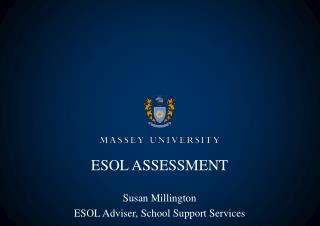 ESOL ASSESSMENT
