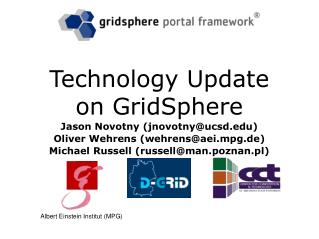 Technology Update on GridSphere