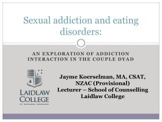 Sexual addiction and eating disorders: