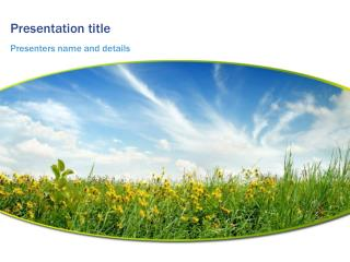 Landscape Meadow Powerpoint Template