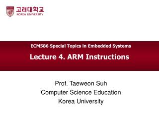 Lecture 4. ARM Instructions
