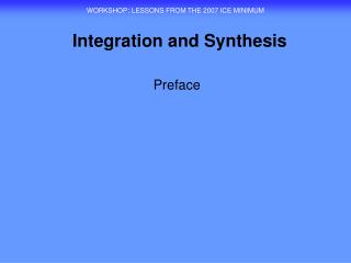 Integration and Synthesis