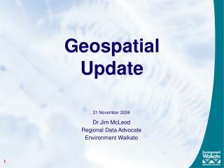 Geospatial  Update