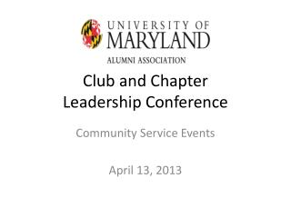 Club and Chapter Leadership Conference