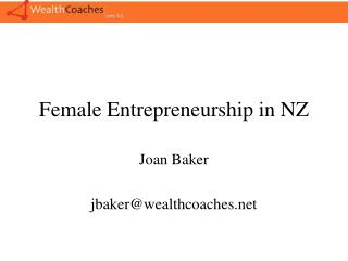 Female Entrepreneurship in NZ