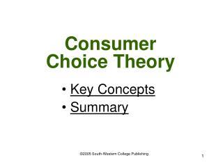 Consumer Choice Theory