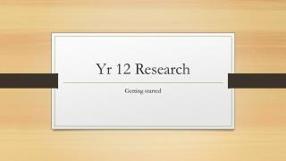 Yr  12 Research