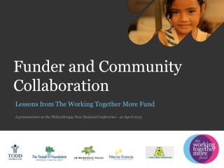 Funder and Community  Collaboration