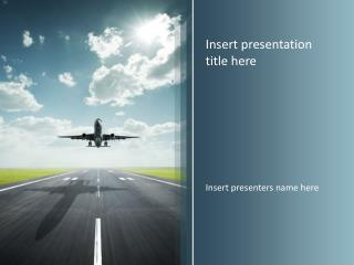 Airplane Travel Powerpoint Template