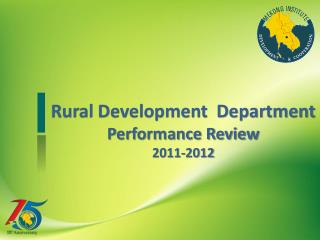 Rural Development Department Performance Review 2011-2012