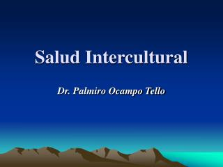 Salud Intercultural