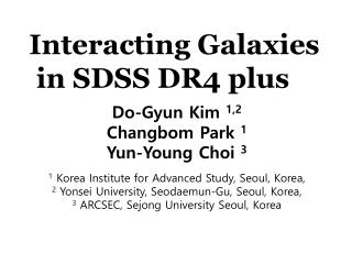 Interacting  Galaxies in SDSS  DR4 plus