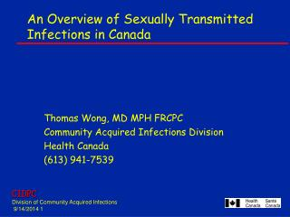 An Overview of Sexually Transmitted Infections in Canada