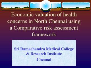 Sri Ramachandra Medical College & Research Institute Chennai