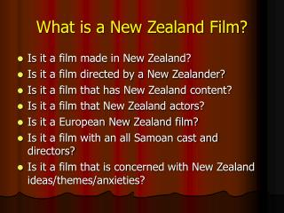What is a New Zealand Film?
