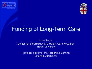 Funding of Long-Term Care