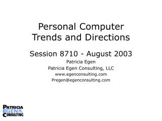 Personal Computer  Trends and Directions