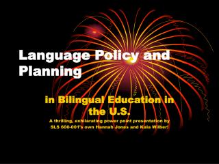 Language Policy and Planning