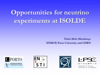 Opportunities for neutrino experiments at ISOLDE
