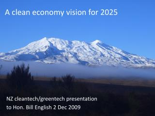A clean economy vision for 2025