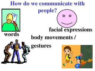 How do we communicate with people