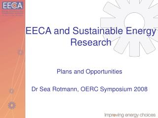 EECA and Sustainable Energy Research