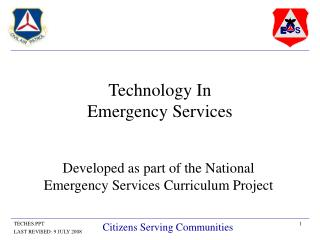 Technology In Emergency Services