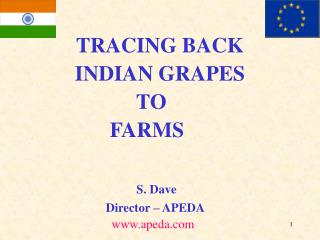 TRACING BACK INDIAN GRAPES TO FARMS S. Dave