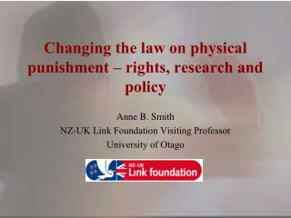 Changing the law on physical punishment – rights, research and policy